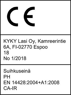 CE Merkintä suihkuseinä