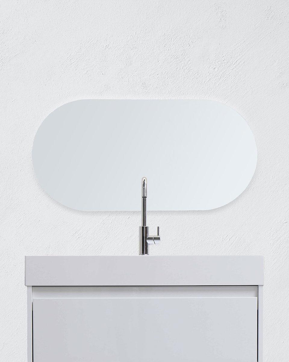 Pyöreäkulmainen peili - Vaaka