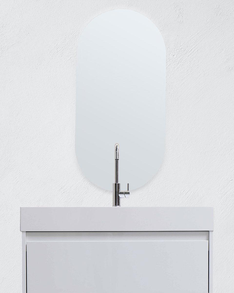 Pyöreäkulmainen peili - Pysty